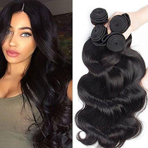 Extension capelli veri matassa tessitura 3 bundles mossi ondulati 100% virgin human hair grade 7a pesa 300g lunga 50cm 55cm 60cm