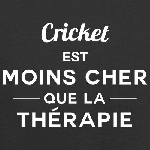 Cricket est moins cher que la thérapie - Femme T-Shirt - 14 couleur Noir