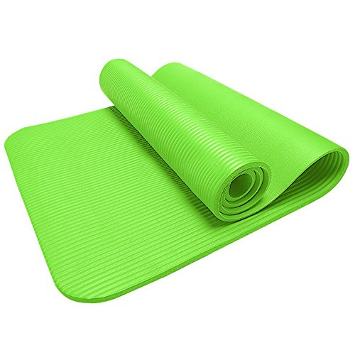 Feitb Pilates Premium Yogamatte Gymnastikmatte Fitnessmatte trainingsmatte phthalatfrei, SGS geprüft,in 6 unterschiedlichen Farben 173 x 61 x 1cm (Grün)