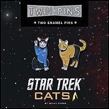Star Trek cats twins pins