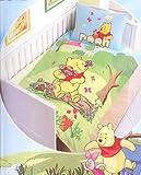 Winnie Pooh im Garten Kinder Bettwäsche Grösse 135/200 Baumwolle Linon