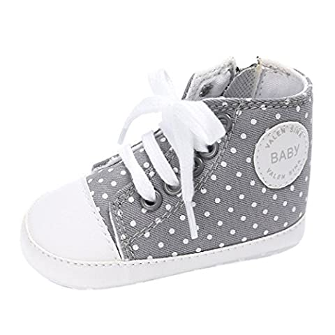 Baby Schuhe, Switchali Neugeborene Krippe Soft Sole Schuh Sneakers (2 (6-12M), Grau) (6m Jack)