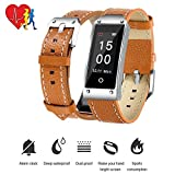 Intelligente wasserdichte Uhr, TechCode-Farbbildschirm IP67 imprägniern Blutdruck u. Herz-Rate- u. Schlaf-Überwachungs-Armband-Armband, Kalorienzähler-Schrittzähler Sport-intelligente Uhr für Tätigkeits-Verfolger für Android und IOS (Y2-Braun)