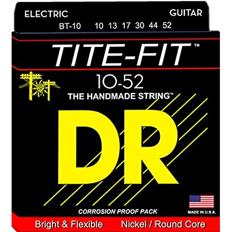 DR Tite Fit Nickel Plated Electric Guitar Strings10-52 Lite n Heavy