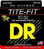 DR Strings TITE-FIT 10-52 Jeu de Cordes pour Guitare Electrique