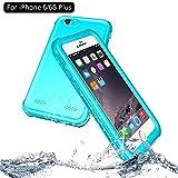 NewTsie iPhone 6/6s Plus Wasserdicht Stoßfest Hülle, IP68 Zertifiziert Schutzhülle Staubdicht mit Eingebautem Displayschutzfolie für Apple iPhone 6/6s Plus 5.5 inch (P-Blau)