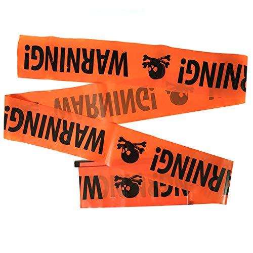 Ambility Halloween Party Warnung Streifen Band Zeichen Dekoration Kunststoff Durable Für Fenster Wand (Skeleton Halloween Band Dekoration)