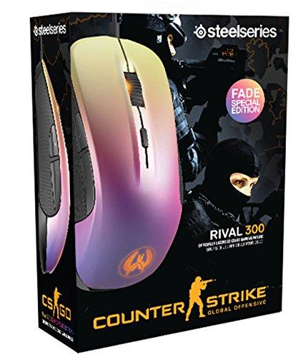 SteelSeries Rival 300 Optische Gaming-Maus (6 Tasten, Gummierte seitliche Griffflächen) – CS:GO Fade - 4