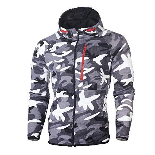 MIRRAY Herren Camouflage Sweatshirt Herbst Winter Top Hosen Sets Sport Anzug Trainingsanzug