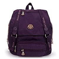 DANNY BEAR Cool Stylish Mini Backpacks School Daypack Bags for Men and Women Purple
