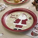 Premium Weddings Pappteller Weihnachten Weihnachtsmann 8 Stück - Advent Teller Weihnachtsfeier Deko Pappteller Weihnachtsmann