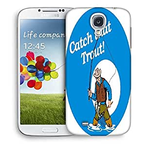 Snoogg Fly Fisherman Fishing Catching Trout Fish Rod Reel Designer Protective Back Case Cover For Samsung Galaxy S4