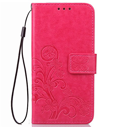Double Magnetic Back Sucktion Retro Style PU Leder Flip Stand Case mit Kickstand und Wallet Beutel Funktion für Huawei Y635 ( Color : Rose ) Rose