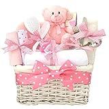 Angel Deluxe weiß Geflecht Baby Girl Geschenk Korb/Baby-Geschenkkorb/Baby Dusche Geschenk/New Arrival/Baby Andenken/Schnell Versand