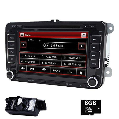 17,8 cm double DIN EN Dash Autoradio stéréo pour VW Volkswagen Golf Passat Polo Jetta Tiguan EOS Scirocco Touran Skoda Seat avec lecteur DVD Navigation GPS USB SD FM AM RDS radio Bluetooth SWC
