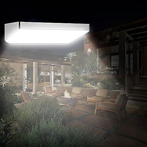 Anself Solaire Extérieur Éclairage PIR Détecteur de Mouvement Etanche avec Cadre en Alliage d'Aluminium pour Mur Lumière Jardin Cour Pathway