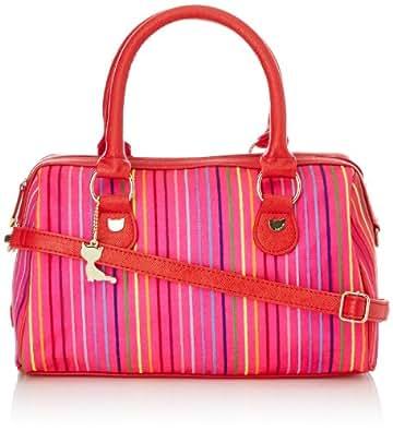 Lollipops Womens Rapsody Bowling Top-Handle Bags 19021_PINK Beige/Pink One Size