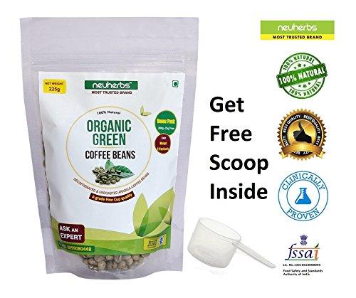 Neuherbs Organic Green Coffee beans- 225 g