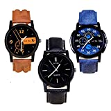 just like Quartz Movement Analogue Multicolour Dial Men's Watch - 444123(Pack of 3)