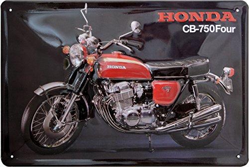 Honda CB750 Blechschild, Honda Blechschild CB750 Nostalgic Retro Metal Plate, Honda Blechschild 20 x 30 cm (Honda Motorrad Blechschild)