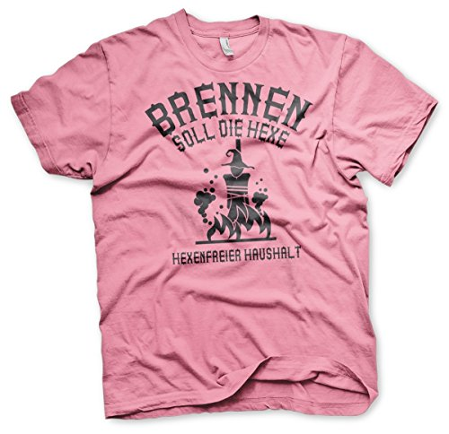 Brennen soll die Hexe - Scheidung-Tshirt Pink