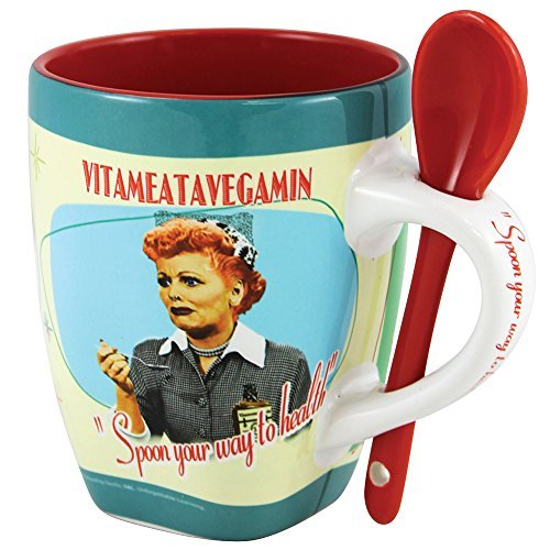 Vitameatavegamin Mug With Spoon Handle 11-oz Ceramic by Midsouth Products ()