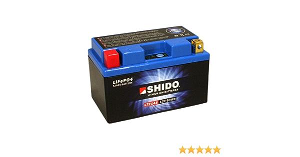 Batterie Shido Lithium Ltz14s Ytz14s 12v 11 2ah Maße 150x87x110 Für Honda Crf1000 D Africa Twin Abs Dct Baujahr 2017 Auto