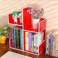 Mesa de escritorio ajustable Escritorio Organizador ordenado Pantalla Estantes de almacenamiento Librería independiente en blanco Unidad de almacenamiento en CD Estante Unidad Cubo Porta objetos Cosmé