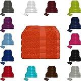 Handtuch Sets Frottier 500g/m2 in vielen Größen und Farben, sowie 10er Sparpack, 100% Baumwolle, 4er Pack Handtücher Terra