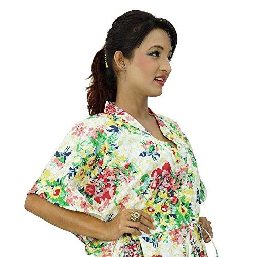 Baumwolle African Kaftan Hippy Frauen Hemd Strand Vertuschung Frauen Kaftan Mehrfarben-4