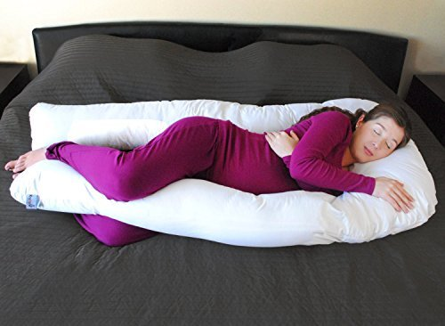 SAMAY Almohada de Maternidad para Embarazadas con Forma de U para Cuerpo Completo - U Pillow...
