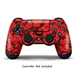 Morbuy PS4 Vinyl Skin Decal Full Body Sticker For Sony Playstation 4 PS4 Slim PS4 Pro Dualshock Controller x 1 (Red)