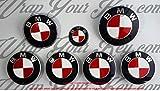 Weiß & Rot M Sport BMW Badge Emblem Overlay Kapuze Trunk Felgen passend für alle BMW