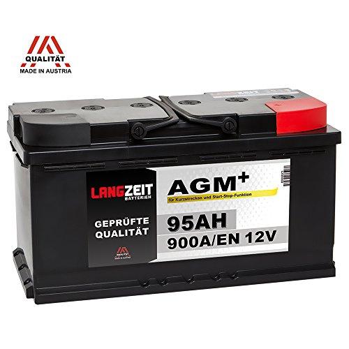 LANGZEIT AGM+ 95Ah 12V 900A/EN Start-Stop Autobatterie VRLA Batterie