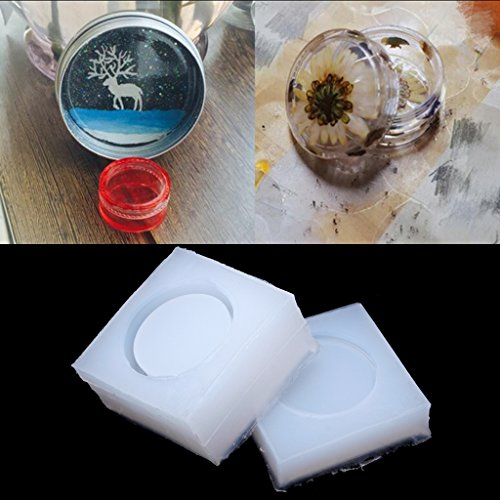 Amrka - Molde silicona crear cajas redondas, molde