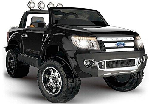 Elektro Kinderauto Elektrisch Ride On Kinderfahrzeug Elektroauto Fernbedienung - Ford Ranger 2-Sitzer - Schwarz