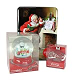 Coca Cola Cola Cola Santa Set Tin with Truck Snow Globe and Wall Mounted Bottle Opener
