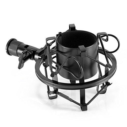 Neewer® Universal Mikrofon Shock Mount Mikrofonhalter Halterung für Radio Broadcasting Studio, Voice-over Sound Studio und Recording(Schwarz) -