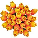 ZHM 10PCS PU Mini Tulip Fiore Artificiale Real Touch Latex Tulipano per la cerimonia nuziale per la decorazione domestica