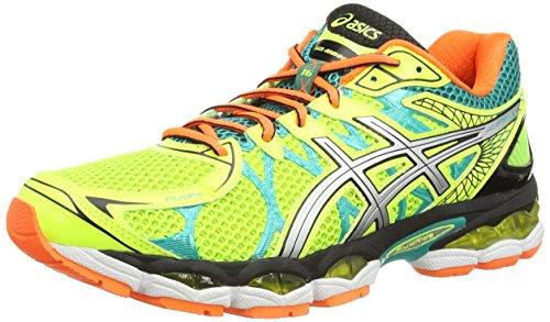 519X4Q%2BK%2BnL BEST BUY #1ASICS Gel Nimbus 16, Mens Training Running Shoes, Yellow (Flash Yellow/Silver/Emerald Green 793), 7 UK, 41.5 EU