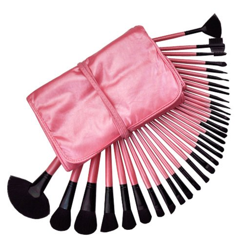 Contever® Kit de Pinceau maquillage Professionnel 32PCS de Rose brosse Eyebrow Shadow Blush Fond de teint Kit Pinceaux