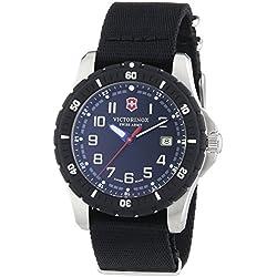 Victorinox Swiss Army - Reloj de cuarzo para hombre, correa de tela color negro