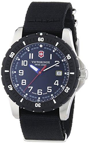 Victorinox Swiss Army Herren-Armbanduhr XL Analog Quarz Textil 241674.1