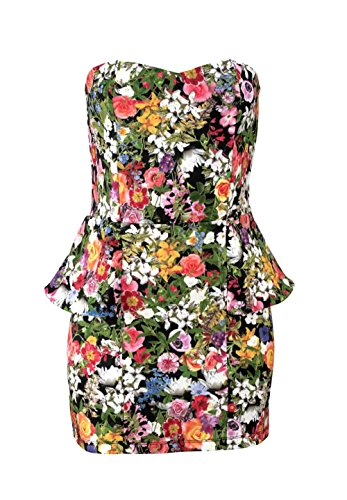 Melrose Damen-Kleid Kleid mit Schößchen Mehrfarbig Größe 38