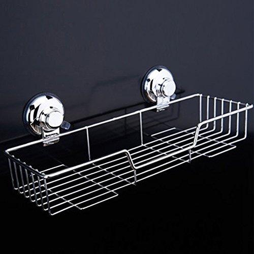 2 Regal, Chrom-draht (etbotu Edelstahl Dusche Caddy Bad Regal Organizer, mit Saugnapf rostfrei Draht Korb für Küche Badezimmer Zubehör)