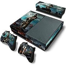 46 North Design Xbox One Pegatinas De La Consola Medieval + 2 Pegatinas Del Controlador & 1 Kinect Sticker