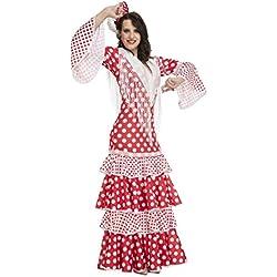My Other Me Me-203863 Disfraz de Flamenca Rocío para Mujer, Color Rojo, XL (Viving Costumes 203863)