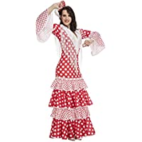 My Other Me - Disfraz de flamenca Rocío para mujer, color rojo, XL (Viving Costumes 203863)