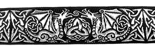 Newsbenessere.com 519X6x-2ZSL 10m Borte Webband celtica larghezza 35mm colore: nero/argento di 1a merceria 35027-swsi