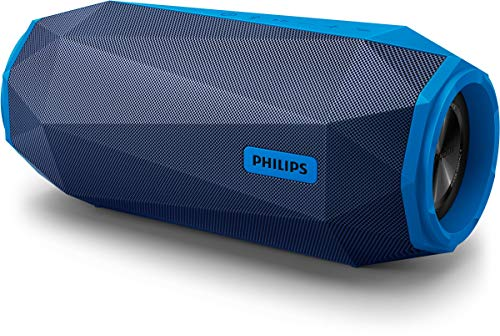 (CERTIFIED REFURBISHED) Philips Shoq Box SB500A/00 Stereo Portable Bocina Speaker (Blue)